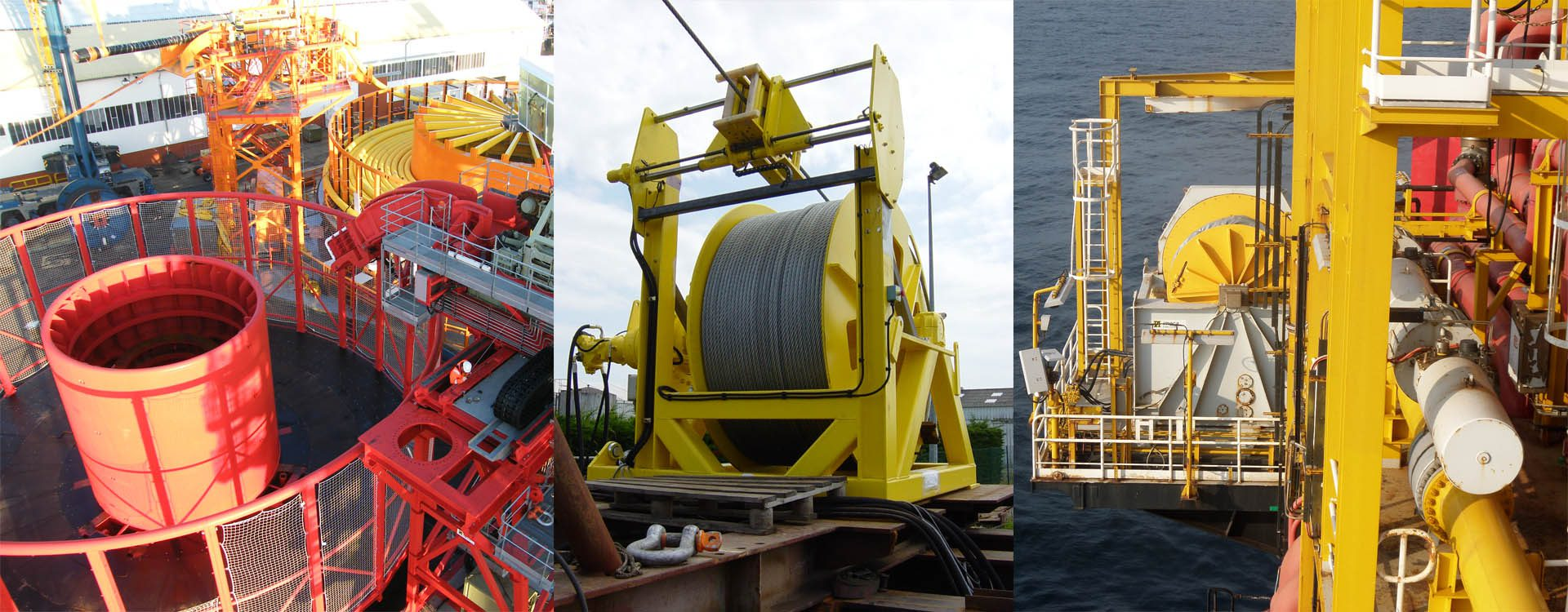 Offshore handling winches